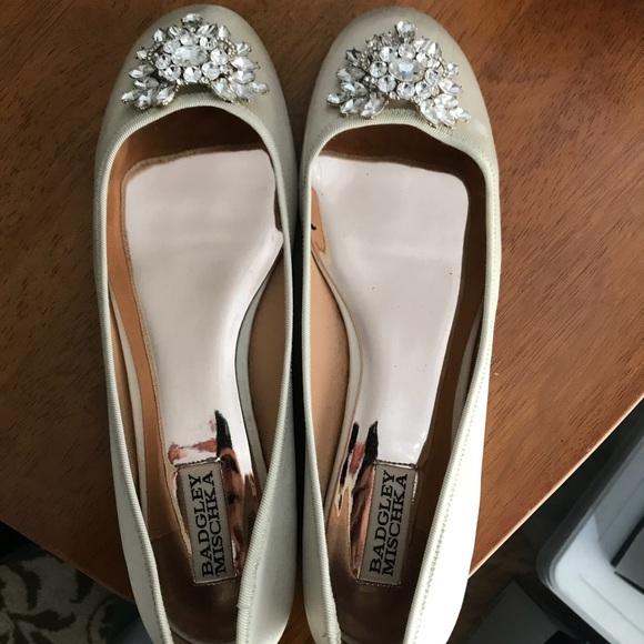 36fb333aeea3 Badgley Mischka Shoes - Badgley Mischka Bianca Jeweled Ballet Flats